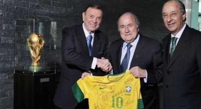 Marin, Blatter e Del Nero. Os três fizeram o que quiseram na Copa do Mundo no Brasil