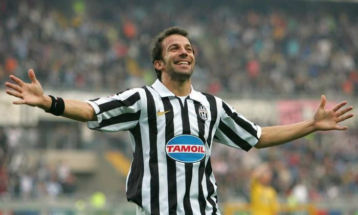 Del Piero: Ídolo da Juventus, Del Piero anotou 44 gols em 92 partidas pela Liga, sendo todos os gols feitos pelo clube italiano.