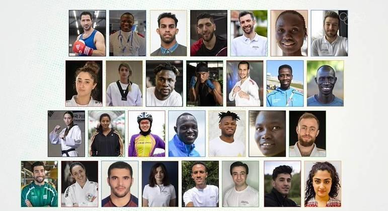 Os 29 atletas da equipe de refugiados que vão competir nas Olimpíadas de Tóquio