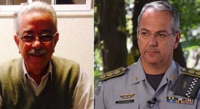 Delegado aposentado Milton Montemor (esq.) e Coronel Sardilli (dir.)