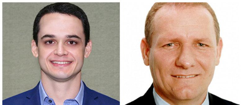 Candidatos Delegado Pazolini (à esq.) e João Coser (à dir.)