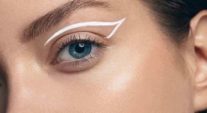 Delineador Branco - saiba como usar essa nova tendência