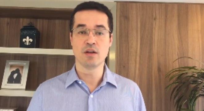 O procurador da República Deltan Dallagnol em vídeo de despedida da Lava Jato