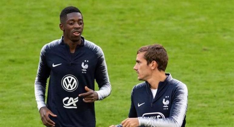 Dembélé e Griezmann jogam juntos na França e também no Barcelona