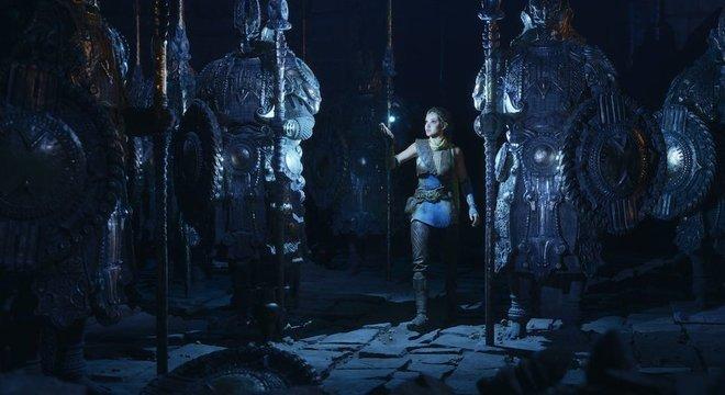 Os diretores podem brincar com iluminação e outros efeitos usando um mecanismo de videogame