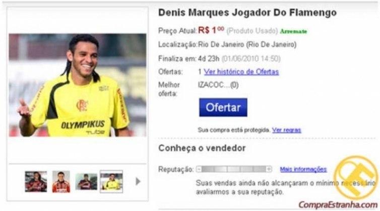 Denis Marques, ex-atacante do Flamengo, foi outro homem de frente
