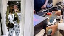Viúva de MC Kevin compra R$ 45 mil em roupas e paga em dinheiro