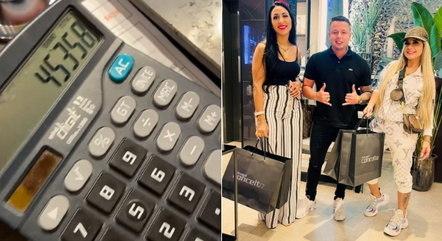 Vendedor mostra total gasto por Deolane em uma compra
