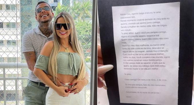 Deolane Bezerra ganhou declaração deixada por MC Kevin para o Dia dos Namorados