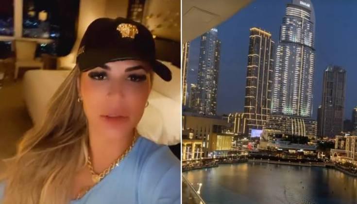 Deolane Bezerra, viúva de MC Kevin, desembarcou em Dubai e compartilhou com seus seguidores imagens do hotel 5 estrelas em que está hospedada