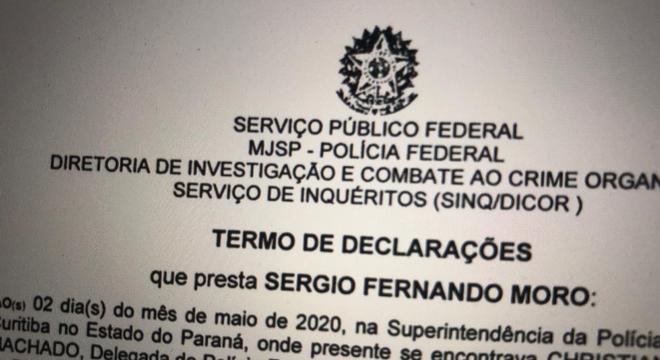 Moro prestou um longo depoimento na PF em Curitiba, Paraná