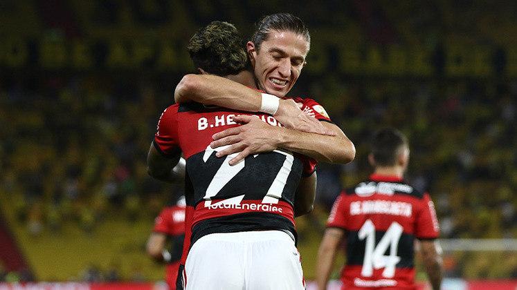 Depois de derrotar o Barcelona-EQU no jogo de ida por 2 a 0, o Flamengo repetiu a dose e se classificou para enfrentar o Palmeiras na final da Libertadores de 2021, que será disputada no estádio Centenário, em Montevidéu.