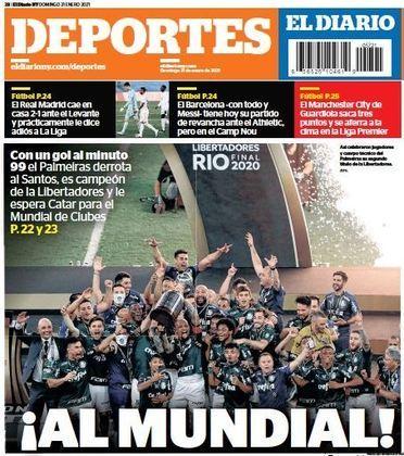 Deportes - Os espanhóis colocaram deram destaque para a presença do Palmeiras no Mundial de Clubes.