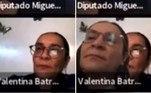 A deputada mexicana Valentina Batres Guadarrama foi acusada de usar uma foto como pano de fundo, para simular presença durante uma sessão virtual do Congresso no Zoom