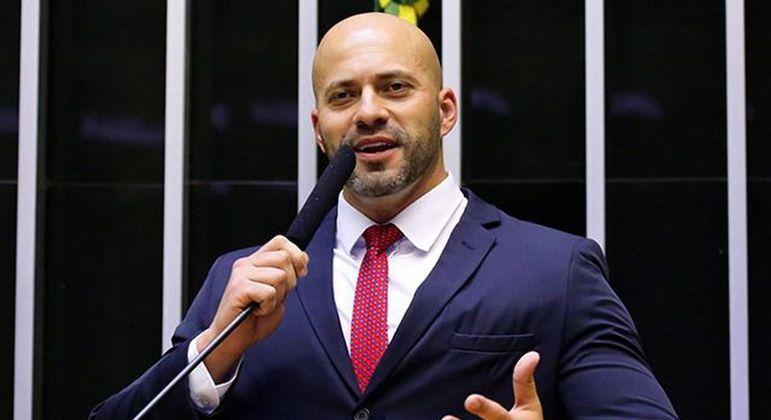 O deputado federal Daniel Silveira, preso na semana passada