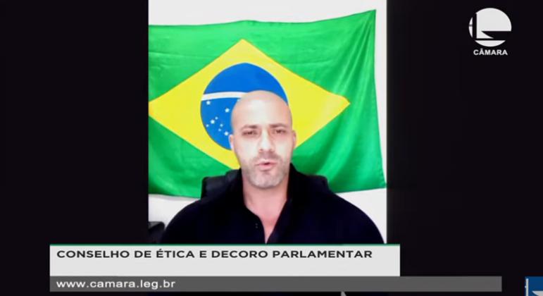 O deputado Daniel Silveira admitiu ao Conselho de Ética que exagerou nas palavras: 'Falei o que meu coração sentia'