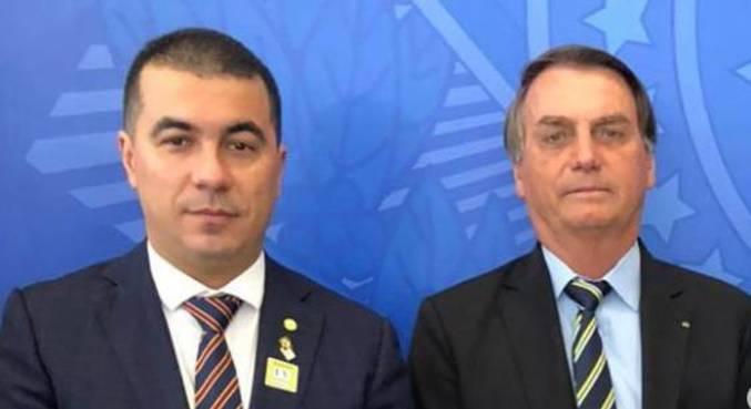 O deputado Luis Miranda, com o presidente Jair Bolsonaro