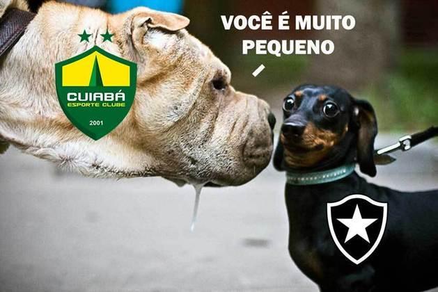 Derrotado na primeira partida das oitavas de final, o Botafogo deu adeus à Copa do Brasil após o empate com o Cuiabá na noite desta terça-feira. A eliminação para a equipe da Série B, fez com que o Alvinegro virasse imediatamente alvo de memes dos rivais na web. Confira na galeria! (Por Humor Esportivo)