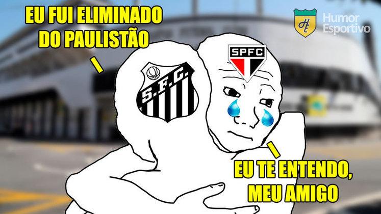 Derrotado por 3 a 1 na Vila Belmiro, time comandado por Jesualdo deu adeus ao Campeonato Paulista. Confira as zoeiras que bombaram na web!