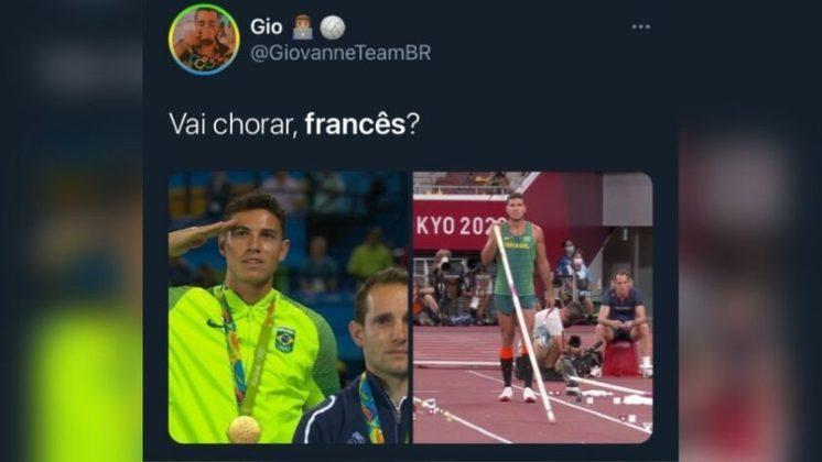 Derrotado por Thiago Braz na Rio 2016, Renaud Lavillenie voltou a perder para o brasileiro e sofreu com as piadas na web. O francês havia criticado a torcida brasileira na competição realizada no Brasil.