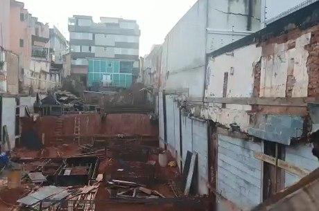 Obra acontecia no bairro Prado