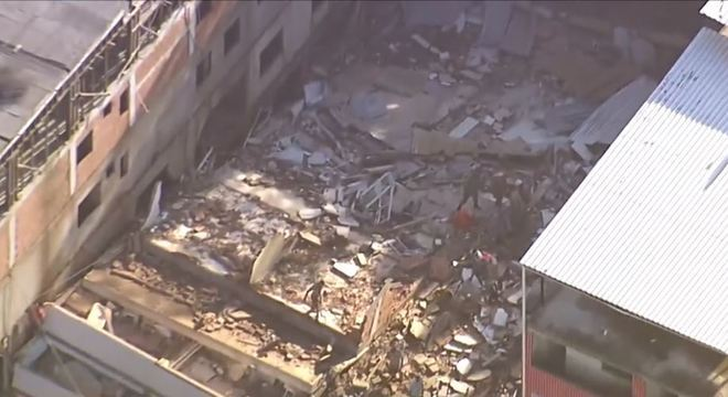 Dois prédios desabaram na manhã desta sexta em Muzema, no Rio de Janeiro