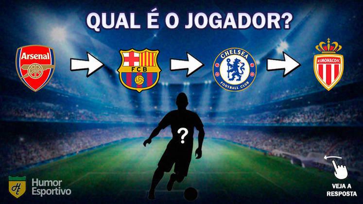 Desafio do futebol: Qual jogador passou por esses clubes?