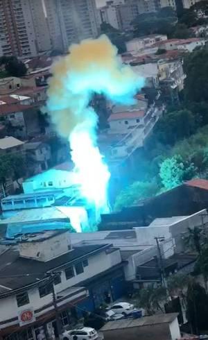 Explosão gerou incêndio em SP