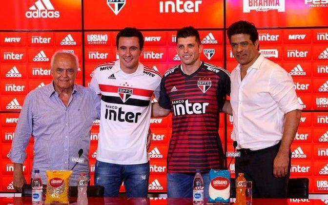 Desde 2017 estampando o principal espaço no uniforme do São Paulo, o Banco Inter prorrogou o vínculo com o Tricolor Paulista ate dezembro de 2020. Nessa renegociação dos termos contratuais, os valores não foram divulgados. Quando a parceria foi firmada, em 2017, o clube paulista recebia cerca de R$ 23 milhões anuais.