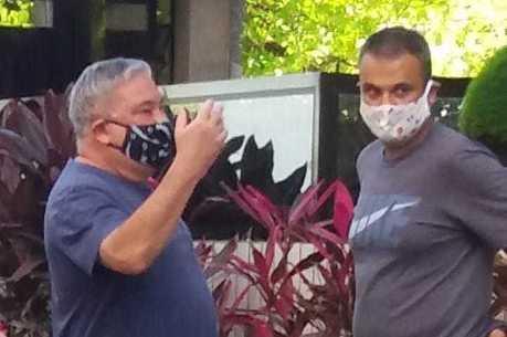 Desembargador Eduardo Siqueira com máscara