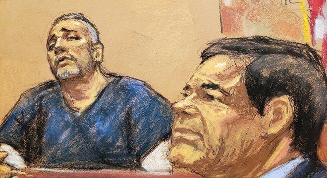 O traficante Alex Cifuentes (esquerda) disse que Guzmán (direita) tentou subornar o ex-presidente