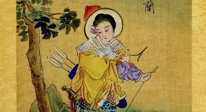 Uma representação chinesa de Mulan do final do século 19