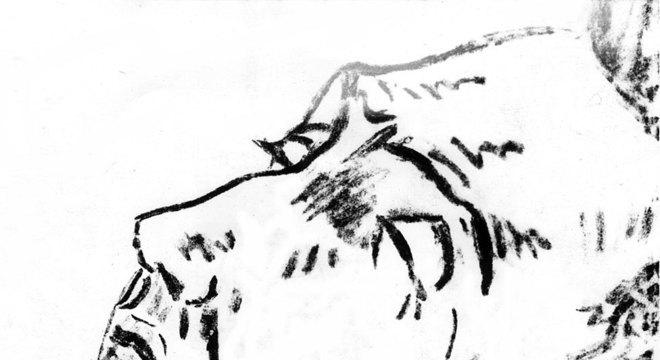 Desenho de Van Gogh em seu leito de morte, com a parte superior da orelha intacta