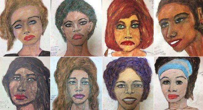 O FBI divulgou os desenhos feitos por Little na esperança de que as vítimas possam ser identificadas