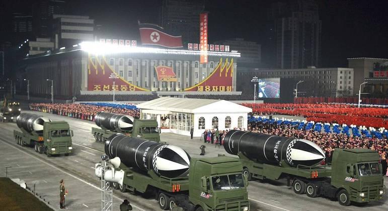 Coreia do Norte é um dos noves países no mundo que possui arsenal nuclear