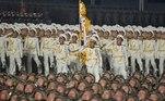 Esse foi o primeiro desfile deste tipo realizado para comemorar um crongresso do Partido dos Trabalhadores da Coreia, um relevante ato político do regime cuja oitava edição terminou na terça-feira, após oito dias de sessões, o dobro da edição anterior, de 2016