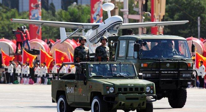 O presidente chinês tem promovido um plano de modernização do Exército desde a sua chegada ao poder, em 2013