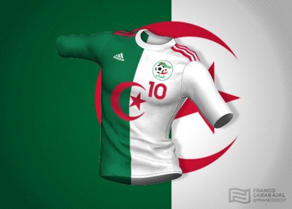 Designer cria camisas de seleções inspiradas nas bandeiras dos países: Argélia