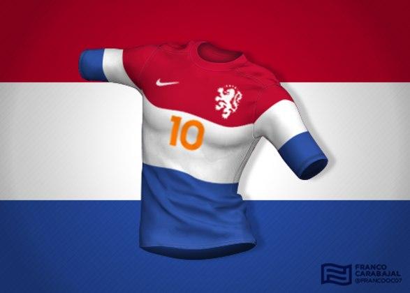 Designer cria camisas de seleções inspiradas nas bandeiras dos países: Holanda