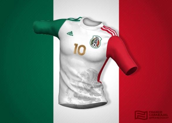 Designer cria camisas de seleções inspiradas nas bandeiras dos países: México