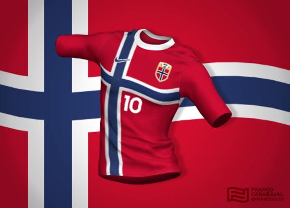 Designer cria camisas de seleções inspiradas nas bandeiras dos países: Noruega