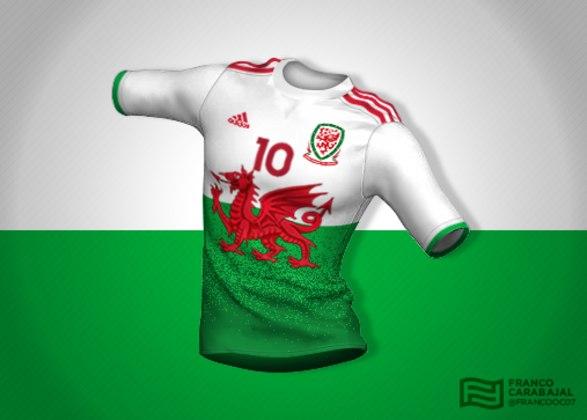 Designer cria camisas de seleções inspiradas nas bandeiras dos países: País de Gales
