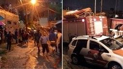 Desmoronamento em Mauá (SP) deixa duas crianças soterradas ()