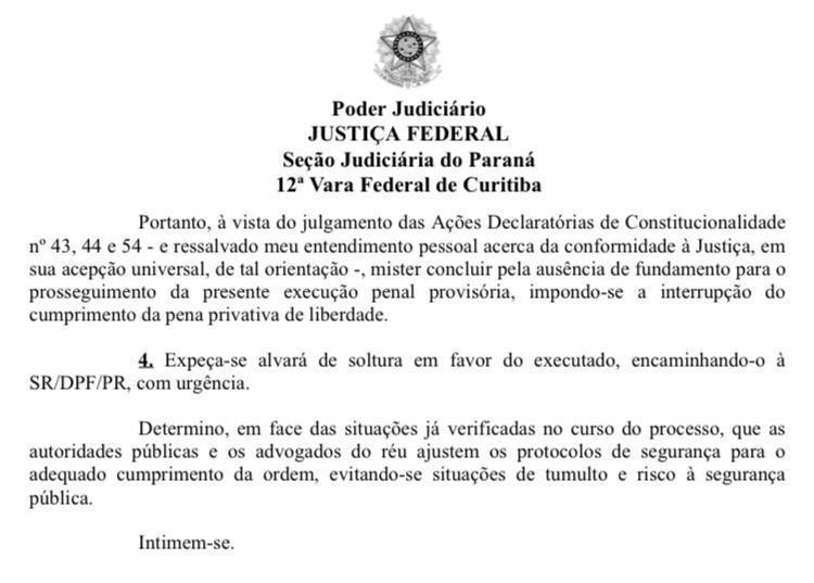 Decisão da Justiça Federal