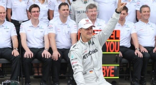O piloto Michael Schumacher, sete vezes campeão da Fórmula 1