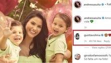 Gusttavo Lima comenta em foto de Andressa Suita com os filhos