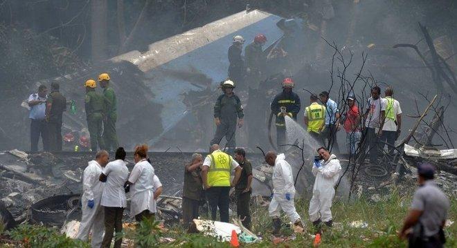 No acidente da empresa Cubana de Aviación, foi identificado que houve falha humana