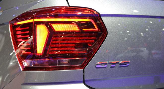 Detalhe da lanterna do novo Polo GTS, da Volkswagen