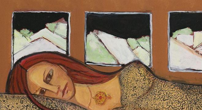 Detalhe de pintura de Tereza Costa Rêgo