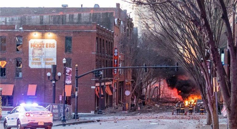 A explosão interrompeu os sistemas de comunicação no Tennessee e em quatro outros Estados